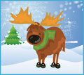 Reindeer Cute Snow Royalty Free Stock Photos