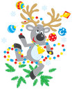 Reindeer dancing Royalty Free Stock Photo