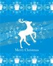 Reindeer Flying Stars. Blue Ba...