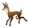 Reindeer illustration depicting a cute cartoon Royalty Free Stock Image