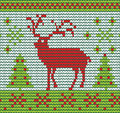 Reindeer made of wool vector illustration eps Stock Photography