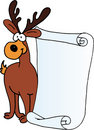 Reindeer  - message letter for Santa Claus Stock Images