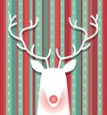 Reindeer Minimalist Christmas Colored Wallpaper