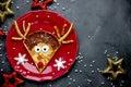 Reindeer pancakes recipe. Christmas fun food for kids