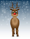 Reindeer with red nose vector illustration Stock Photography