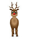 Reindeer with red nose vector illustration Royalty Free Stock Photo