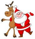 Reindeer and Santa Royalty Free Stock Photo