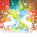 Reindeers beautiful christmas background with vector Stock Image