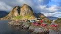 Reine fishing village in Lofoten Islands, Norway Royalty Free Stock Photo
