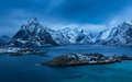 Reine village on Lofoten islands in the winter