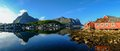 Reine village in norway panoramic view of a Royalty Free Stock Image