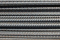 Reinforcement bars group of ribbed close up Royalty Free Stock Photos