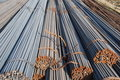 The reinforcing stell rod pile Royalty Free Stock Images