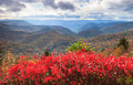 Reinhart overlook blue ridge parkway north carolina autumn view from off the in in the southern appalachian mountains southwest of Stock Images