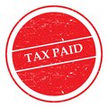 Tax paid stamp Royalty Free Stock Photo