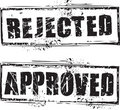 Rejected and approved stamp Royalty Free Stock Photo