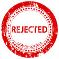 Rejected grunge stamp Royalty Free Stock Photo