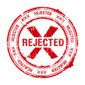 Rejected stamp Royalty Free Stock Photo