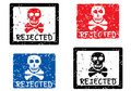 Rejected stamp. Skull. Royalty Free Stock Photography