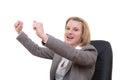 Rejoicing success Stock Photography