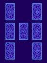 Relationship tarot spread. Tarot cards back side
