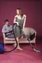 Relationships homemaker and husband this image has attached release Royalty Free Stock Photo