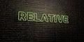 RELATIVE -Realistic Neon Sign ...