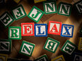 Relax bullying concept word for school Royalty Free Stock Photos