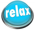 Relax Calm Down Blue Button Light Cool Off Rest Royalty Free Stock Photo