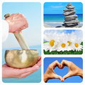 Relax collage Royalty Free Stock Photo