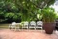 Relax corner in garden
