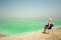 Relax at the dead sea in israel Royalty Free Stock Photography