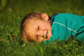 Relax on grass Royalty Free Stock Photo