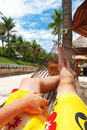 Relax in hammock Royalty Free Stock Images