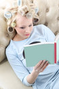 Relax with a nice book. Royalty Free Stock Photo