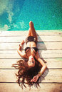 Relax at pool Royalty Free Stock Images