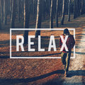 Relax Recreation Chill Rest Serenity Concept Royalty Free Stock Photo