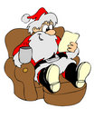 Relax santa Royalty Free Stock Photography