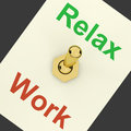 Relax Switch On Showing Relaxing And Recreation Stock Photo
