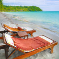 Relax time on beach in summer time Royalty Free Stock Image