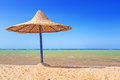 Relax under parasol on the beach of red sea egypt Royalty Free Stock Image