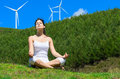 Relax and windmills Royalty Free Stock Images