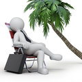 Relaxation d image with work path Stock Image