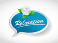 Relaxation flower concept illustration design over white Royalty Free Stock Photography