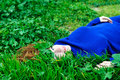 Relaxation in grass Stock Photo