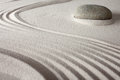 Relaxation japanese zen garden background Royalty Free Stock Image