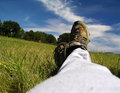 Relaxation on the meadow Stock Image