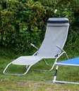 Relaxation place garden with deck chair my Stock Image