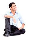 Relaxed business man Royalty Free Stock Photo