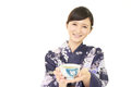 Relaxed Japanese woman Royalty Free Stock Photo